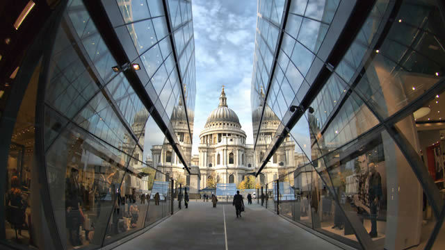 St Pauls Cathedral from One New Change  & #169;Graham Lacdao/St Paul & apos;s Cathedral