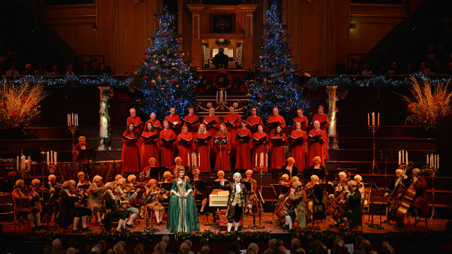 head to a london christmas concert