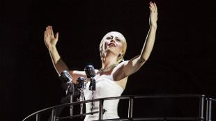 Emma Hatton stars in Evita at Phoenix Theatre. Pho