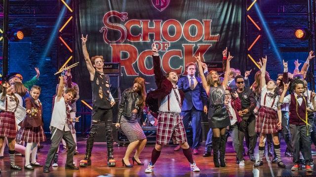 The Cast of School of Rock. Image: Tristram Kenton
